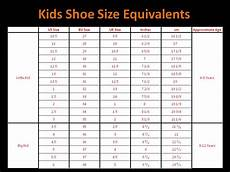 Toddler Youth Size Chart Qatique Closet Childrens Shoe Size Chart