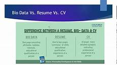 Resume And Biodata Difference Difference Between Cv Resume Bio Data Youtube