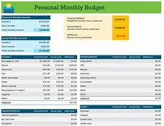 Budget Formats Template Personal Budget Planner Template Templatedose Com