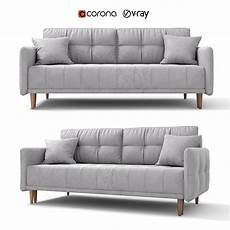 Sofa Bed 3d Image by Sofa Bed Tadeush Gray Velor By Hoff 3d Model Cgtrader