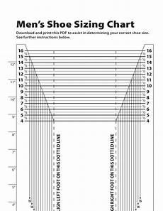 Mens Shoe Width Chart Men S Shoe Sizing Chart Free Download