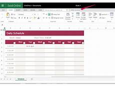 Create A Schedule How To Create A Weekly 24 Hour Calendar With Excel