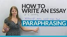 How To Write Copyright How To Write A Good Essay Paraphrasing The Question Youtube