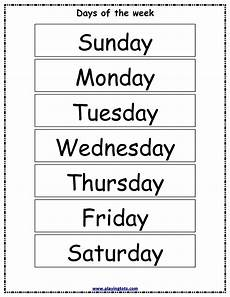 Printable Days Of The Week Chart Free Printable Days Of The Week Chart Learning English