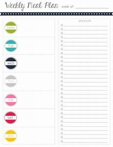 Meal Planning Grocery List Template Meal Plan With Grocery List Grocery List Template