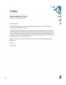 Negotiating Salary Offer Salary Negotiation Email Samples Salary Negotiation Ihire