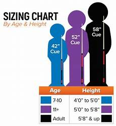 Pool Stick Size Chart Youth Pool Cues Mcdermott Cues For Children