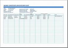 House Inventory Sheet Ms Excel Household Inventory List Template Formal Word