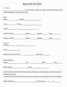 free bill of sale receipt template free boat trailer bill of sale form pdf