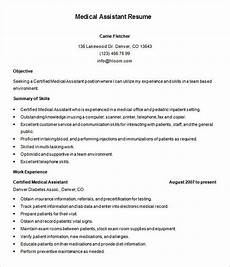Medical Cv Template Free 5 Medical Assistant Resume Templates Doc Pdf Free