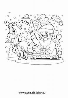Ausmalbilder Weihnachtsmann Mit Schlitten Ausmalbilder Weihnachtsmann Mit Schlitten Weihnachten