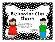 Chevron Behavior Clip Chart Behavior Clip Chart Bright Chevron Theme Tpt