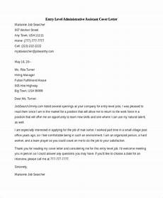 Entry Level Medical Assistant Cover Letter Free 8 Sample Administrative Assistant Cover Letters In