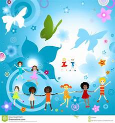 Children Playing Background Kids Playing Stock Vector Illustration Of Happiness