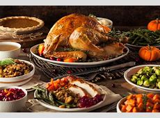The centerpiece of the Thanksgiving table is the turkey