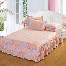 2018 polyester bedspread bed skirt thickened fitted