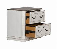 magnolia traditional antique white 2 drawer file cabinet