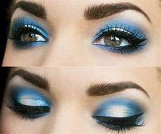 Light Blue Eyeshadow Tutorial Eye Makeup Tutorial For Blue Smoky Eyes For Girls 2014 2015
