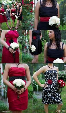 love this just want pink red white black bridesmaid