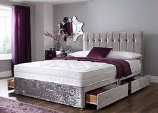 4ft6 memory divan base mattress flat headboard king