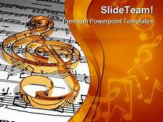 Musical Powerpoints Gold Music Symbol Powerpoint Templates And Powerpoint