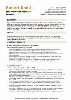 Resume Objective For Pharmacist Pharmacist Resume Samples Qwikresume