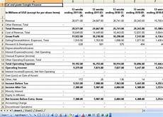 Financial Statements Excel What Websites Allow You To Export Financial Statements
