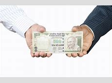 Hands Holding indian money stock photo. Image of rupees