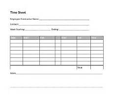 Two Week Timesheet Timesheet For One Week With Two Work Periods Per Day