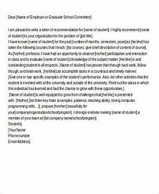 Athlete Letter Of Recommendation Free 7 Sample Letter Of Recommendation For A Student In