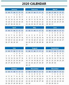 2020 Calendar Template Wordtemplate Net