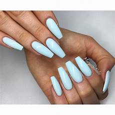 Light Blue Nails Coffin Baby Blue Coffin Nails Spring 2016 Blue Coffin Nails