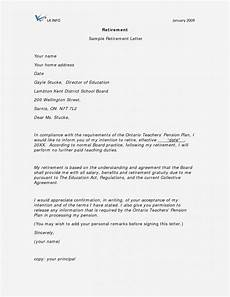 Retirement Letters Examples 12 13 Sample Of Retirement Letter To Employer