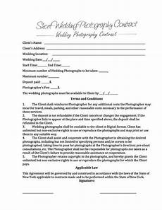 Free Wedding Contract Template 6 Free Wedding Photography Contract Templates