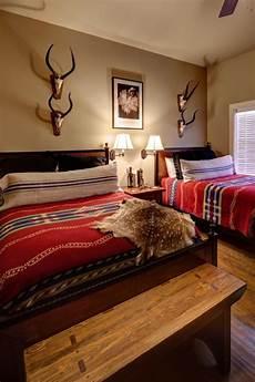 Western Bedroom Ideas Tribal Print Bedding Pops In Western Style Bedroom Hgtv