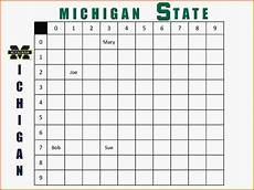 Football Square Template Football Squares Template Excel Template Business