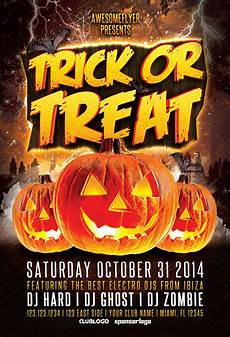 Halloween Flyers Templates Free Trick Or Treat Halloween Party Flyer Awesomeflyer Com