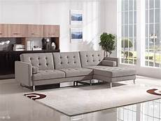 Mid Century Sectional Sofa 3d Image by Divani Casa Smith Mid Century Brown Fabric Sectional Sofa