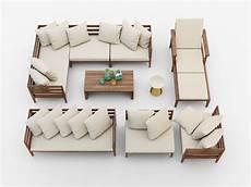 Patio Sofa Set 3d Image by West Elm Jardine Outdoor Furniture Set 3d Model Max Obj Fbx