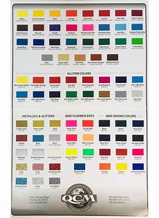 Ink Color Chart Qcm Ink Color Chart Free