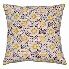 16 quot block printed cotton throw cushion cover ethnic indian
