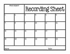 Recording Track Sheet Freebie Task Card Scoot Recording Sheet By Hollar