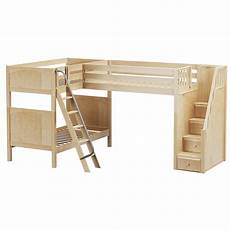 high corner loft bunk bed with ladder stairs r