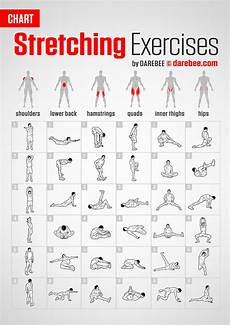 Lower Back Stretches Chart Exercises Chart