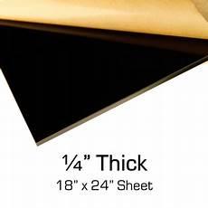 black acrylic 1 4 quot thick 18 quot x 24 quot sheet