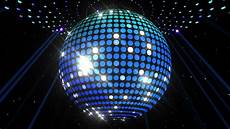 Disco Party Lights Dvd Disco Mirror Ball Center Wide Stock Footage Video 857704