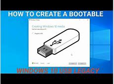 How to create a Windows 10 Bootable USB for Legacy MBR old