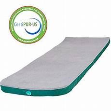 laidbackpad memory foam cing mattress 24 x 72 x 2