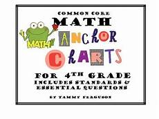 Common Core Anchor Charts Common Core Math Anchor Charts For 4th Grade Math