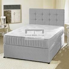 romney grey divan bed with memory foam mattress